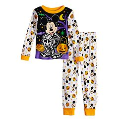 Disney's Mickey Mouse Toddler Boy Glow-in-the-Dark Halloween Top & Bottoms Pajama Set