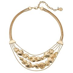 Dana Buchman Textured Disc Swag Necklace