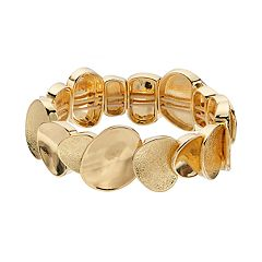 Dana Buchman Textured & Polished Disc Stretch Bracelet