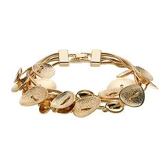 Dana Buchman Textured & Polished Disc Multistrand Bracelet
