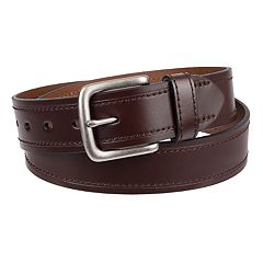 Men's Dickies Stitched Leather Belt