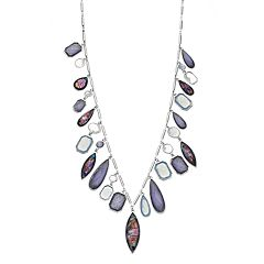 Dana Buchman Simulated Abalone Charm Necklace