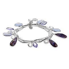 Dana Buchman Simulated Crystal Teardrop Stretch Bracelet Set
