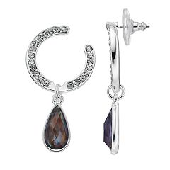 Dana Buchman Simulated Crystal Hoop Drop Earrings