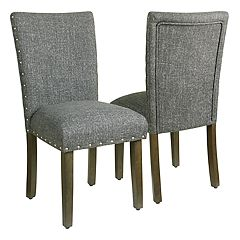 HomePop Classic Nailhead Parsons Dining Chair 2 pc Set