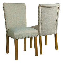HomePop Classic Nailhead Parsons Dining Chair 2-piece Set