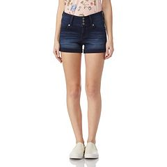 Juniors' Wallflower Sassy Insta Soft Triple-Button Shorts