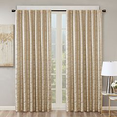 SunSmart Blackout 1-Panel Odessa Total Window Curtain