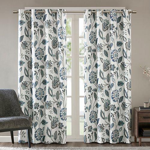 SunSmart 1-Panel Laurel Room Darkening Window Curtain