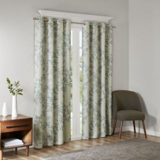 SunSmart Blackout 1-Panel April Botanical Window Curtain