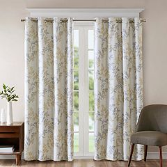 SunSmart Blackout 1-Panel April Botanical Window Curtain