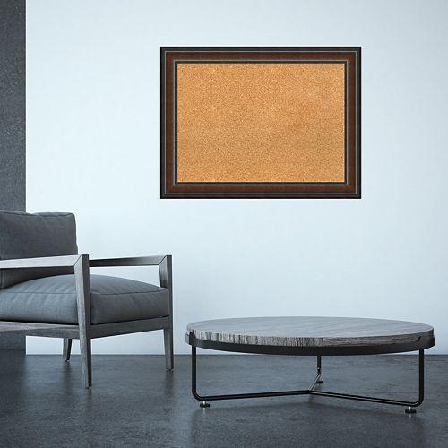 Amanti Art Large Walnut Framed Cork Board