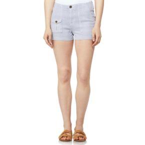 Juniors' Wallflower Printed High-Waisted Trouser Shorts