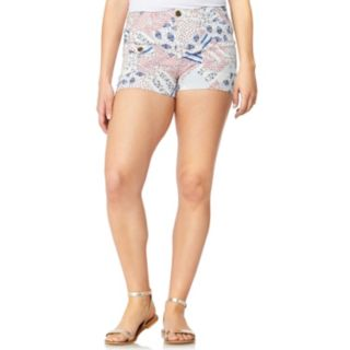 Juniors' WallFlower Printed High-Waisted Trouser Shorts