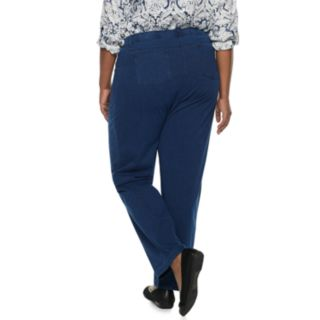 Plus Size Cathy Daniels Pull-On Straight Leg Pants