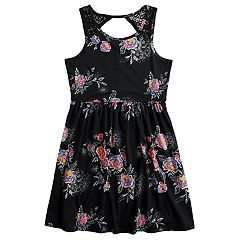 Girls 7-16 & Plus Size Mudd® Crocheted Yoke Sleeveless Dress