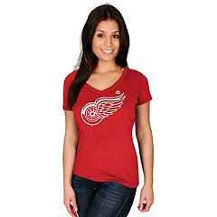 Women's Majestic Detroit Red Wings Logo Tee