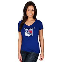 Women's Majestic New York Rangers Logo Tee
