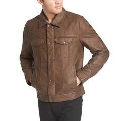 Men's Levi's Faux-Leather Trucker Jacket