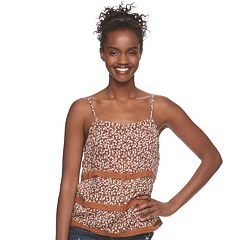 Juniors' Mudd® Crochet-Trim Tank