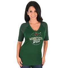 Women's Majestic Minnesota Wild Behind the Win Tee