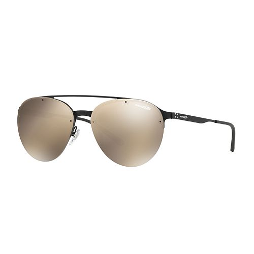 Arnette AN3075 Dweet D 57mm Rectangle Mirrored Sunglasses