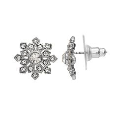 LC Lauren Conrad Snowflake Nickel Free Button Stud Earrings