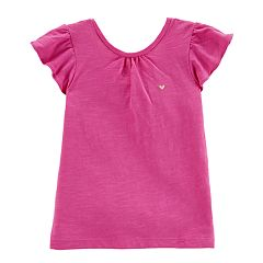 Girls 4-8 Carter's Low Back Slubbed Tee