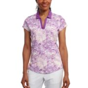 Women's Pebble Beach Printed Short Sleeve Golf Polo