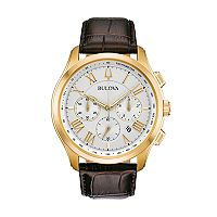 Bulova Men's Classic Wilton Leather Chronograph Watch - 97B169