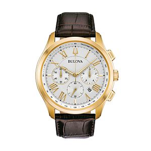 Bulova Men's Classic Wilton Leather Chronograph Watch - 97B169