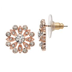 LC Lauren Conrad Flower Nickel Free Button Stud Earrings Earrings