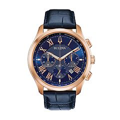 Bulova Men's Classic Wilton Leather Chronograph Watch - 97B170
