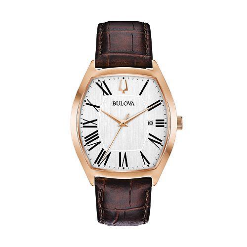 Bulova Men's Classic Ambassador Leather Watch - 97B173