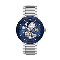Bulova Men's Modern Automatic Stainless Steel Skeleton Watch - 96A204
