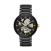 Bulova Men's Modern Automatic Black Ion-Plated Stainless Steel Skeleton Watch - 98A203