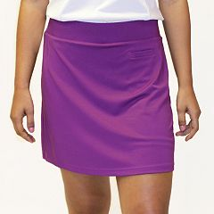 Women's Pebble Beach Solid Jersey Knit Golf Skort