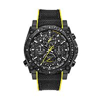 Bulova Men's Precisionist Champlain Black Ion-Plated Stainless Steel Chronograph Watch - 98B312
