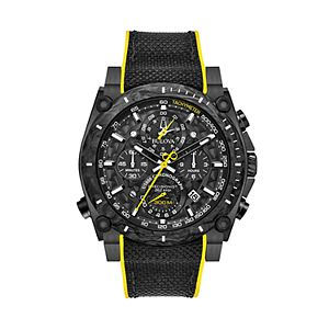 04c44d24f Sale. $712.50. Regular. $950.00. Bulova Men's Precisionist Champlain Black  Ion-Plated Stainless Steel Chronograph Watch ...