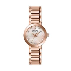 Bulova Women's Modern Diamond Stainless Steel Watch - 97P132
