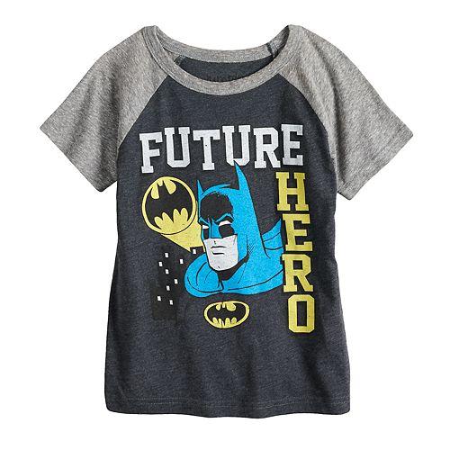 "Toddler Boy Jumping Beans® DC Comics Batman ""Future Hero"" Raglan Graphic Tee"