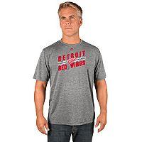 Men's Majestic Detroit Red Wings Drop Pass Tee
