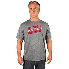 Men's Majestic Detroit Red Wings Drop Pass Tee