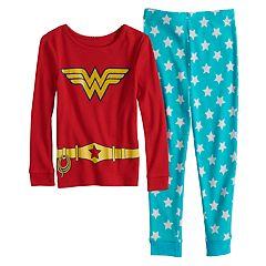 Toddler Girl DC Comics Wonder Woman Top & Bottoms Pajama Set