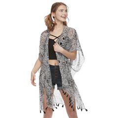 Women's Mudd® Foulard Print Kimono
