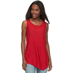 Women's Apt. 9® Asymmetrical Textured Tank