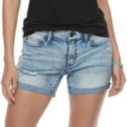 Juniors' Mudd® Destructed Cuffed Jean Shorts