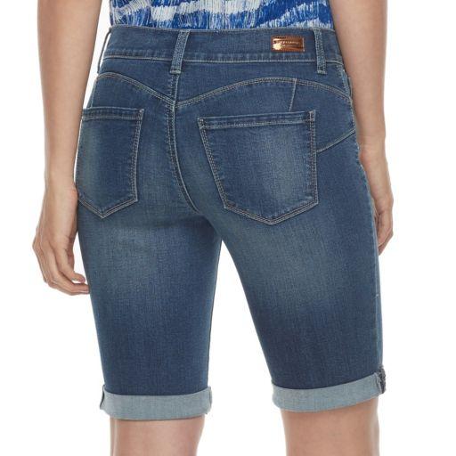 Women's Juicy Couture Cuffed Bermuda Jean Shorts