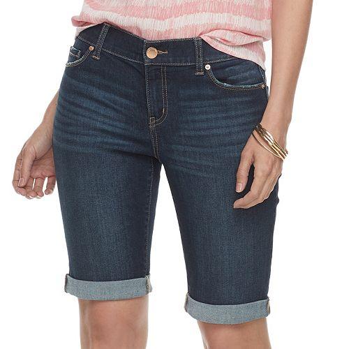 5fcb172ae6 Women s Juicy Couture Cuffed Bermuda Jean Shorts