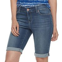 Women's Juicy Couture Cuffed Bermuda Jean Shorts